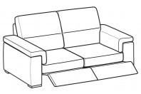 Sofas Jaro 3-er sofa with 2 relax