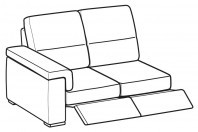 Sofas Jaro 2-er lateral element with 2 relax