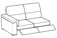 Sofas Jaro 3-er lateral element with 2 relax