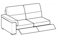 Sofas Jaro 3-er maxi lateral element with 2 relax