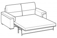 Sofas Jaro 3-er maxi bed with electro-welded base