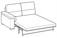 Sofas Jaro 3-er maxi lateral element with electro-welded base