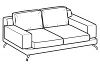Sofas Kennedy 2-er sofa
