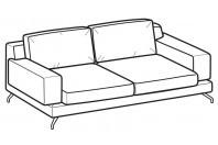 Sofas Kennedy 3-er sofa