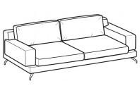 Sofas Kennedy 3-er maxi sofa