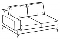 Sofas Kennedy 2-er lateral element