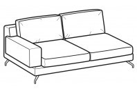 Sofas Kennedy 3-er lateral element