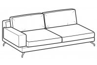 Sofas Kennedy 3-er maxi lateral element
