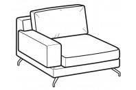 Sofas Kennedy 1-er lateral element