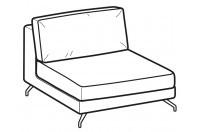 Sofas Kennedy 1-er central element