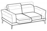 Sofas Lambert 2-er sofa with sliding seats