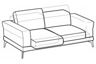 Sofas Lambert 3-er sofa with sliding seats