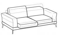 Sofas Lambert 3-er maxi sofa with sliding seats