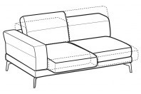 Sofas Lambert 3-er lateral element with with sliding seats