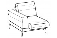 Sofas Lambert 1-er small lateral element with sliding seat