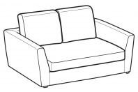 Sofas Lola 2-er mini sofa