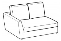 Sofas Lola 2-er small lateral element