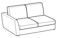 Sofas Lola 2-er lateral element