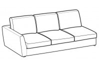 Sofas Lola 3-er lateral element