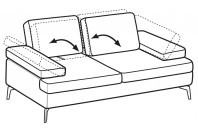 Sofas Luis 2-er sofa