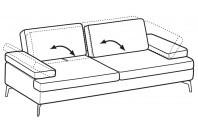 Sofas Luis 3-er maxi sofa