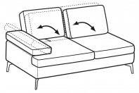 Sofas Luis 2-er lateral element