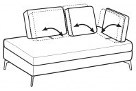 Sofas Luis Angular side element