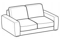 Sofas Magyster 2-er sofa