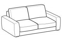Sofas Magyster 2-er maxi sofa