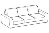Sofas Magyster 3-er maxi sofa
