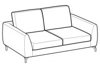 Sofas Mike 2-er sofa