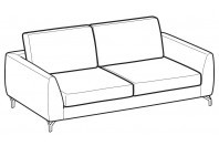 Sofas Mike 2-er maxi sofa
