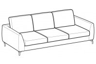 Sofas Mike 3-er sofa