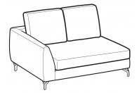 Sofas Mike 2-er small lateral element