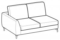Sofas Mike 2-er lateral element