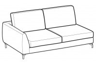 Sofas Mike 2-er maxi lateral element