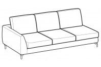 Sofas Mike 3-er lateral element