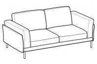 Sofas Nicole 2-er sofa