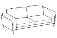 Sofas Nicole 3-er sofa