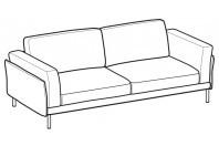 Sofas Nicole 3-er maxi sofa