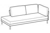Sofas Nicole Angular side element