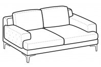 Sofas Nixon 2-er sofa