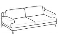 Sofas Nixon 3-er maxi sofa