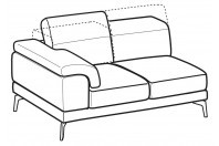 Sofas Norton 2-er lateral element