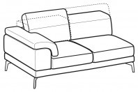 Sofas Norton 3-er lateral element