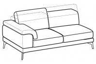 Sofas Norton 3-er maxi lateral element