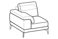 Sofas Norton 1-er small lateral element