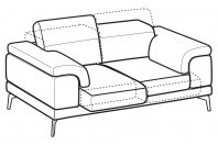 Sofas Norton 2-er sofa with sliding seats