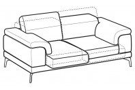 Sofas Norton 3-er sofa with sliding seats