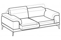 Sofas Norton 3-er maxi sofa with sliding seats